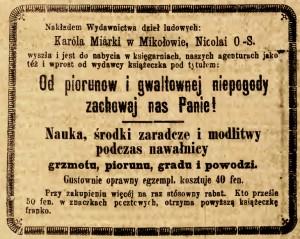 Gwiazda Piekarska  - pismo ludowe poświęcone sprawom politycznym społecznym i oświecie,   rok1888, nr 1