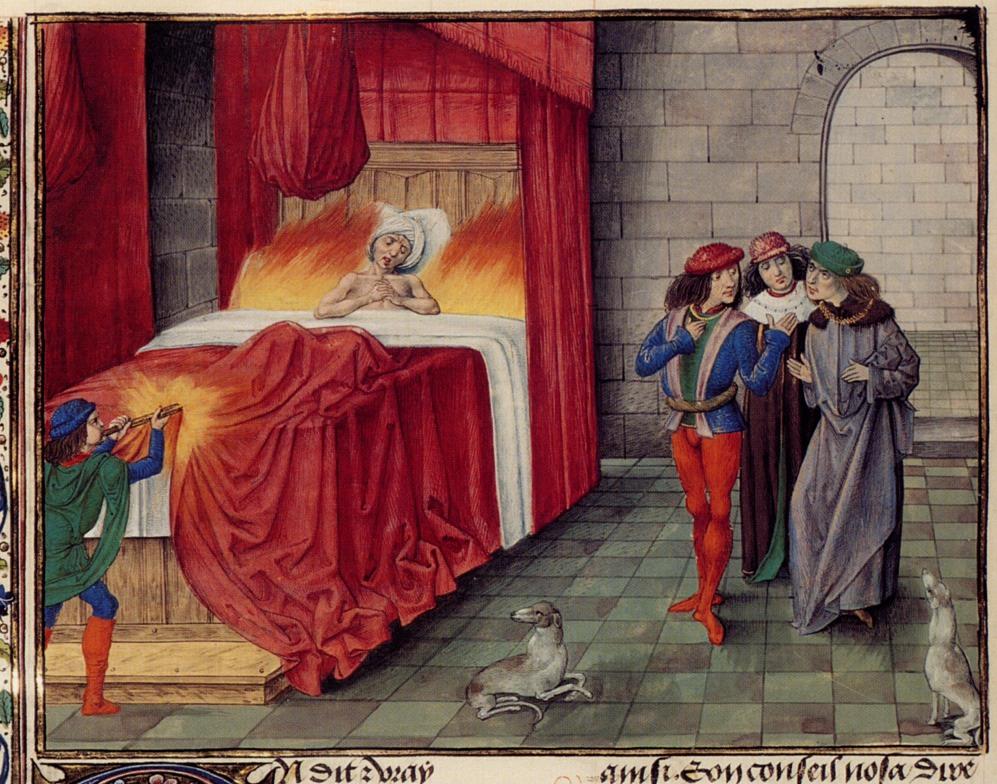 Karol II Zły pokonany przez płonącą wódkę