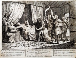 Konsylium,  ilustracja - William Hogarth - 1726