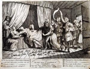 Konsylium,  ilustracja - William Hogarth - 1726