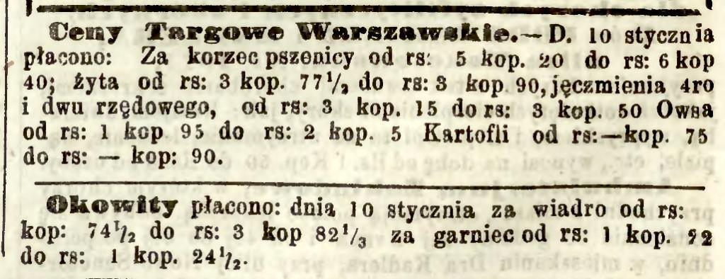 Aktualna cena wiadra okowity  (nr. 7)