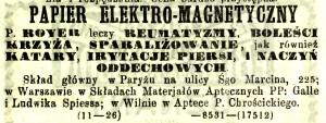 Papier elektro-magnetyczny (nr. 11)