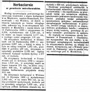 Herbaciarnie w powiecie... - Gazeta Kielecka, rok 1901, nr.61
