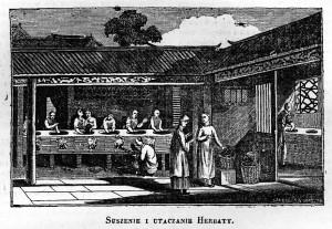 Utaczanie herbaty - Magazyn powszechny, dziennik użytecznych wiadomości, 31 stycznia 1835 r.