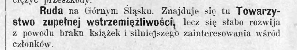 Przyszłość dla Ludu- miesięcznik poświęcony walce z alkoholizmem, rok 1905,  nr.3