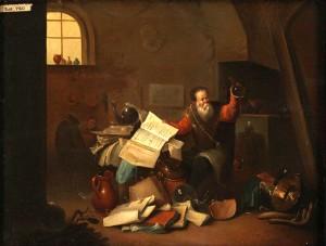 Alchemik w swym laboratorium - druga połowa XVI w.