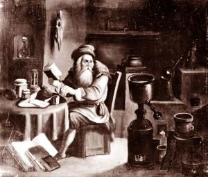 Alchemik - Franz Mieris XVIII w.