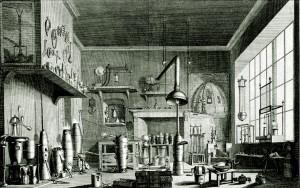 Wnętrze laboratorium alchemicznego - 1762 r.