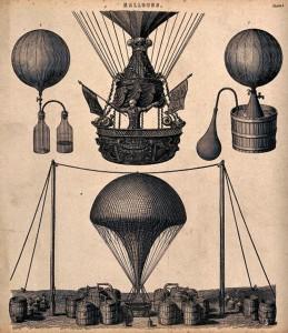 Aparatura latająca z początku XIX wieku