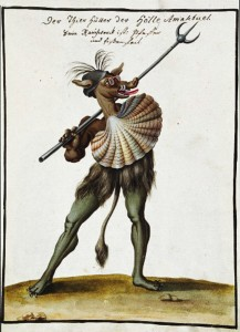 Zwyczajny mieszkaniec odległego króleswa (Compendium rariussimum totis artis - 1766)