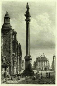 Kolumna Zygmunta - Charles de Lalaisse rok 1840