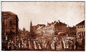 Krakowskie Przedmieście - początek XIX wieku