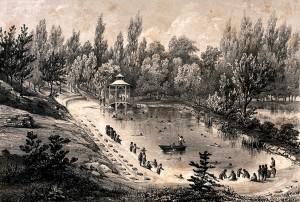 Kąpiel w rzece - XVIII w.